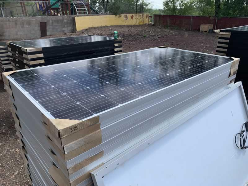New 375 watt black on white panels. $184.00 49 cents a watt!!! 95 in stock!! 2