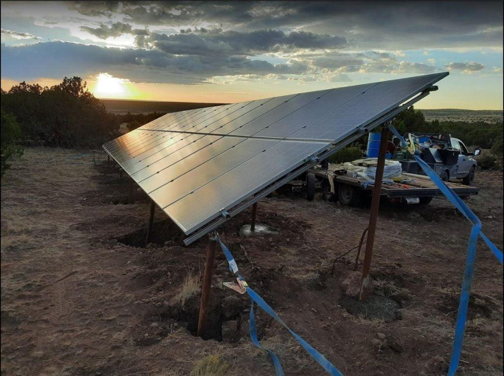 Solar Banner for White Mountains Solar